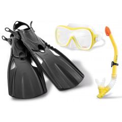 Набор для плаванья Intex 55658 Wave Rider Sports Set (ласты (размер 38-40), маска и трубка для плавания) 8+