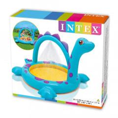 Надувной детский бассейн с фонтанчиком Intex 57437 Dino Spray Pool 3+