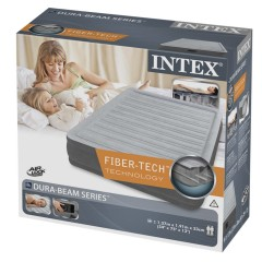 Полуторный надувной матрас Intex 67768 Comfort-Plush Airbed + насос (137х191х33см)