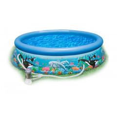 Надувной бассейн Intex 28136NP Ocean Reef Easy Set Pool (366х76см)