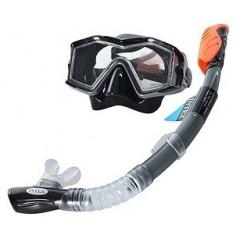 Маска и трубка для плавания Intex 55961 Silicone Explorer Pro Swim Set 14+