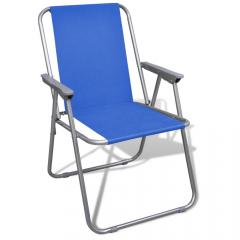 Кресло складное с подлокотниками CK-305, синий