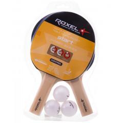 Набор для настольного тенниса Roxel Hobby Start (2 ракетки, 3 мяча)