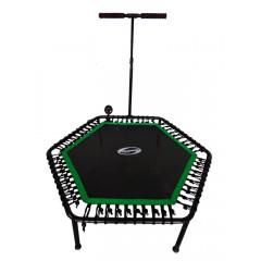 Фитнес -батут SportElite FB-1351 (135см) с ручкой и  компьютером