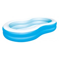 Надувной семейный бассейн Bestway 54117 Большая лагуна (262х157х46см)