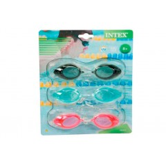 Очки для плавания Intex 55674 Sport Goggles Tri-Pack 8+