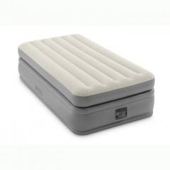 Односпальная надувная кровать Intex 64162 Prime Comfort Elevated + насос (99х191х51см)