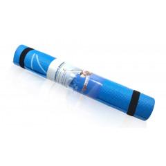 Коврик для йоги и фитнеса YL-Sports BB8304 (173x61x0,4см) с принтом, голубой