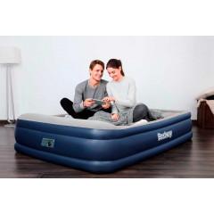 Двуспальная надувная кровать Bestway 67630 Tritech + насос (203х152х46см)
