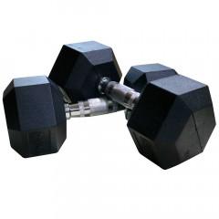 Гантели DFC DB001-45 (2 шт) гексагональные обрезиненные 45 кг
