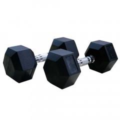 Гантели DFC DB001-47.5 (2 шт) гексагональные обрезиненные 47.5 кг