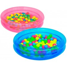 Бассейн детский с 50 разноцветными шарами BestWay 51085 (91х20см) 2+