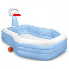 Детский надувной бассейн с баксетбольным кольцом Intex 57183NP (257х188х103см) 3+