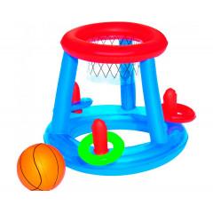 Надувная игровая корзина с 3 кольцами и мячом 61см BestWay 52190 (3+)