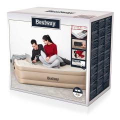 Двуспальная надувная кровать Bestway 69050 Fortech Airbed + насос (203x152x46cм)