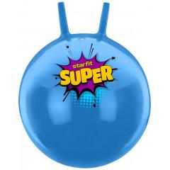 Мяч-попрыгун StarFit GB-0401 SUPER, 45 см, с рожками, голубой