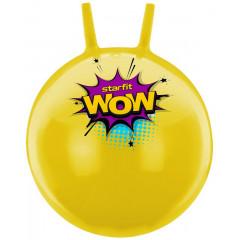 Мяч-попрыгун StarFit GB-0402 WOW 55 см, с рожками, жёлтый