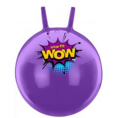 Мяч-попрыгун StarFit GB-0402 WOW 55 см, с рожками, фиолетовый