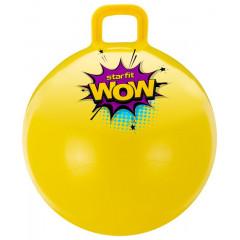 Мяч-попрыгун StarFit GB-0402 WOW 55 см, с ручкой, жёлтый