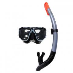 Набор маска и трубка BestWay 24021 BlackSea, 14+ (черный/серый)