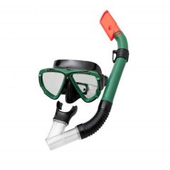 Маска и трубка для плавания BestWay 24053 Dive Mira, 14+ (зеленый)