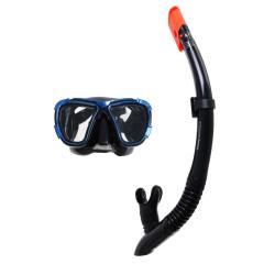 Набор маска и трубка BestWay 24021 BlackSea, 14+ (черный/синий)