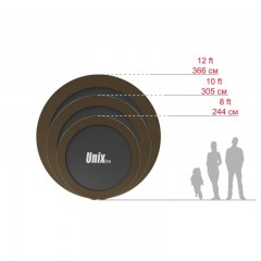 Батут UNIX line 10 ft Black&Brown (inside)
