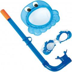 Набор для плавания Bestway 24019 (маска, трубка, очки) 3+ синий