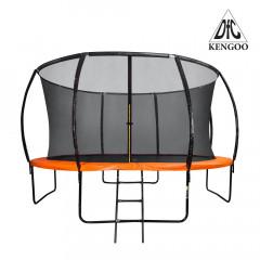 Батут DFC KENGOO II 12FT (366см) внутр.сетка, лестница, оранжевый/черный