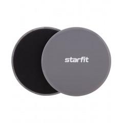 Слайдеры для фитнеса StarFit FS-101 серый/черный