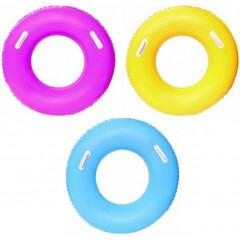 Круг надувной для плавания Bestway 36084 91 см с ручками, уп.12 3 вида