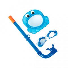 Набор для плавания Bestway 24019 (маска, трубка, очки) 3+ , 4 вида, от 3 до 6 лет
