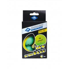 Мяч для настольного тенниса Donic Glow in the dark, 6 шт.