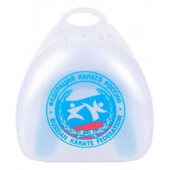 Капа Flamma Karate MGX-003 KR, с футляром, белый/синий