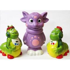 Набор игрушек для ванны Лунтик и хулиганы 3 шт