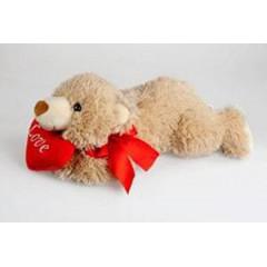 Мягкая игрушка Медведь лежащий с сердцем 37 см Fluffy Family 93403