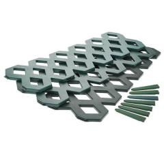 Клумба-забор 3х секционный цвет зеленый К3303