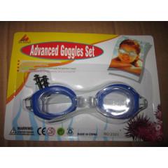 Набор TX68585 очки для плавания + беруши (3 +)