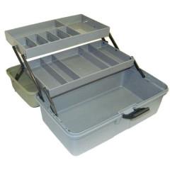 Ящик рыболова двухполочный зеленый Helios арт. 80125