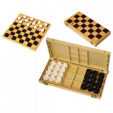 Шашки с шахматной доской 30*30см