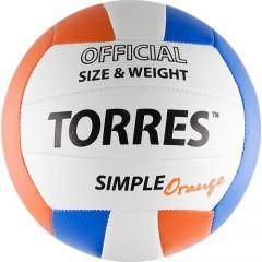 Мяч волейбольный Torres Simple Orange арт. V30125 р.5