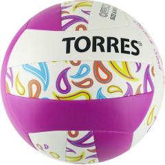 Мяч для пляжного волейбола Torres Beach Sand Pink арт. V30085B р.5