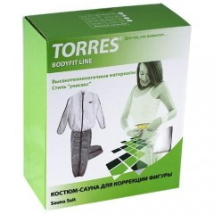 Костюм-сауна Torres арт.BL7004XL размер XL (50-->) серо-белый