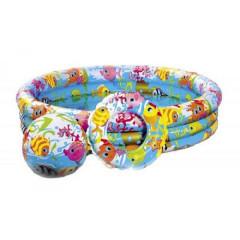 Бассейн детский+мяч надувной 51см+круг надувной INTEX 59469  51см 3+