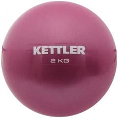 Мяч для пилатеса KETTLER арт.7351-280 вес 2 кг темно-розовый