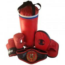 Набор боксерский Чемпион (мешок 40см, перчатки, лапы, пояс чемпиона)
