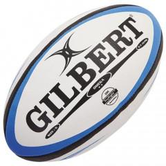 Мяч для регби GILBERT Omega р.5 белый/голубой/черный